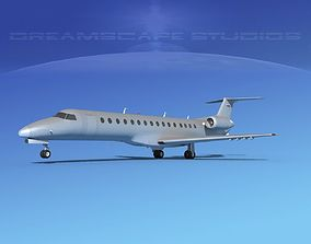 Embraer ERJ-140 Bare Metal 3D model