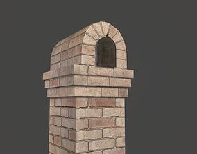 Brick Mailbox 3D asset