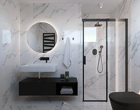 3D cabinet Modern marble bathroom