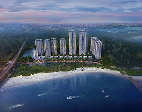 modern High-rise residence 3D