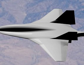 Boeing Hypersonic Valkyrie II - Low Poly 3D asset