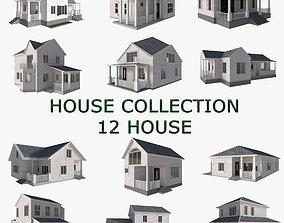 3D House Collection 12 House Low poly