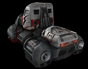 3D asset Hover truck