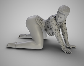 Woman Bent and Searching 3D printable model