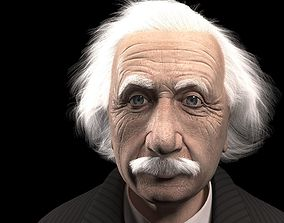 Albert Einstein 3D rigged