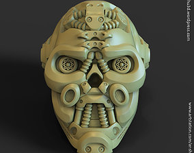 3D printable model Mech robotic skull Pen