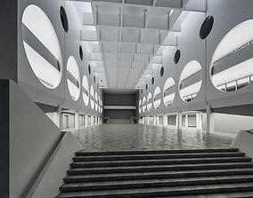 Public Hall Interior 03 3D asset