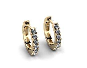 Jewelry Earrings 3D printable model disjunct