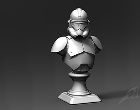 3D printable model Clone Trooper Phase 2 Bust Fan Art