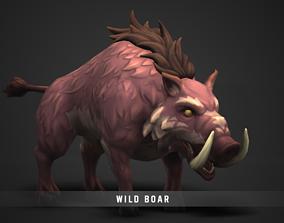 Fantasy Wild Boar 3D asset