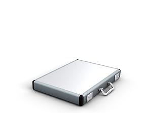 3D Aluminium slimline briefcase