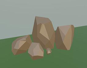 Simple Stones low-poly 3D model