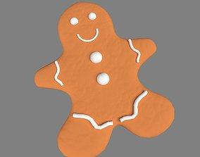 Ginger Bread Man 3D asset