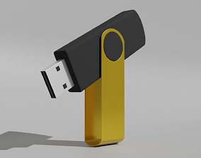 3D asset Flash Drive