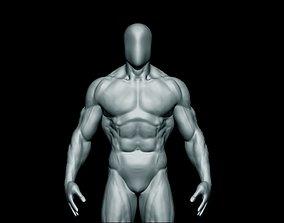 3D model anatomy bodybuilder