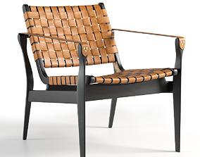 Safavieh Dilan Leather Safari Chair 3D