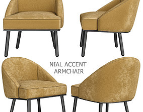 MADE Essentials Nial Accent Armchair 3d model realtime