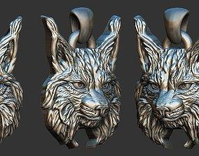 3D print model Bobcat pendant