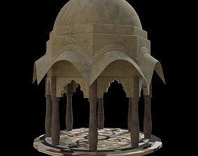 gazebo with dome roof 3D model
