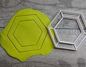 Hexagon cookie cutter 3D print model