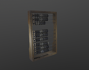 3D Scanned Abacus HIGH POLY