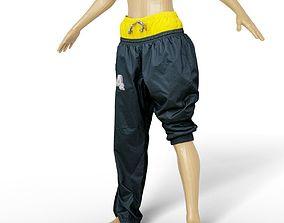Trousers Sports Female TLC Style Vintage 90s 3D asset 1