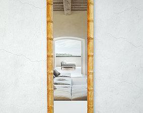 3D Wood Bamboo Floor Mirror