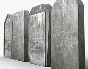 3D model game-ready Simple tombstones