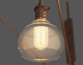 Retro Style Twin Wall Lamp 3D model