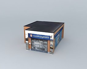 Fuel Retail station Statoil VEF carwash 3D model