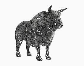 Bull Wire Statue 3D