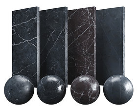 3D asset Black Nero Marquina Marble Texture PBR Vray 4