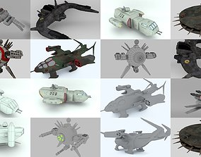 Light spaceships collection 3D
