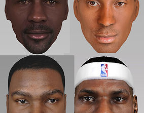 NBA players pack - Jordan Lebron Kobe Durant 3D model