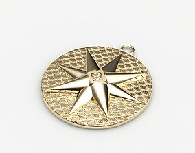 Model 80 Star Embossed Necklace Texture Octagon
