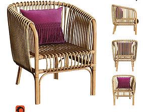 3D model Isabella Rattan Barrel Arm Chair