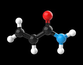 3D model Acrylamide molecule