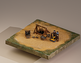 3D asset Iron Mine Level 1