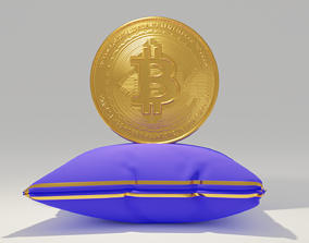 digital BITCOIN 3D Model
