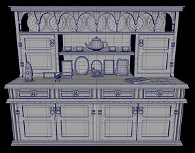Display Cabinet With 3 textures and UV map 3D model