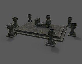 3D asset Divine stand altar