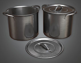 Cooking Pots 01 KTC - PBR Game Ready 3D model