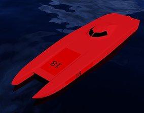 Racing Powerboat 3D Model speedboat