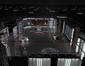 3D model Virtual TV Studio News Set 6