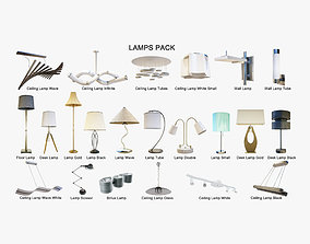 3D model Lamps Pack - Arch Viz