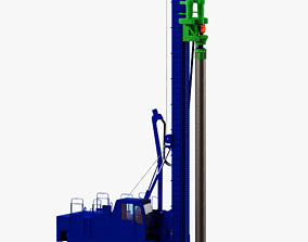 Drilling Rig Low-poly 3D model-Nissha DHJ45 realtime