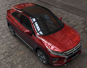 mitsubishi eclipse cross red 3D model