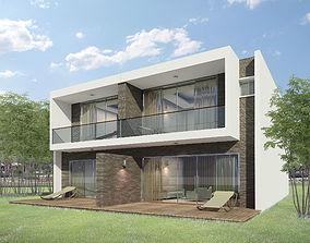 Semi Detached Resort Bungalow 3D
