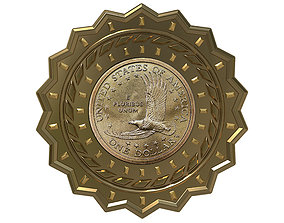 3D model economy Digital Currency Coin - 600 BTC