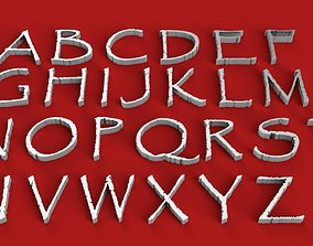 PAPYRUS FONT UPPERCASE AND LOWERCASE 3D LETTERS STL FILE